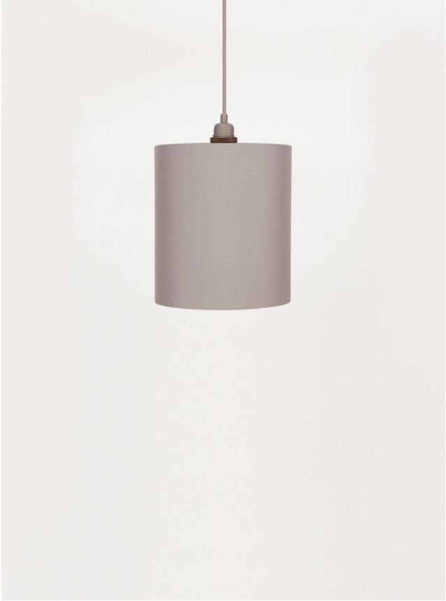 Small Grey Cylinder Pendant