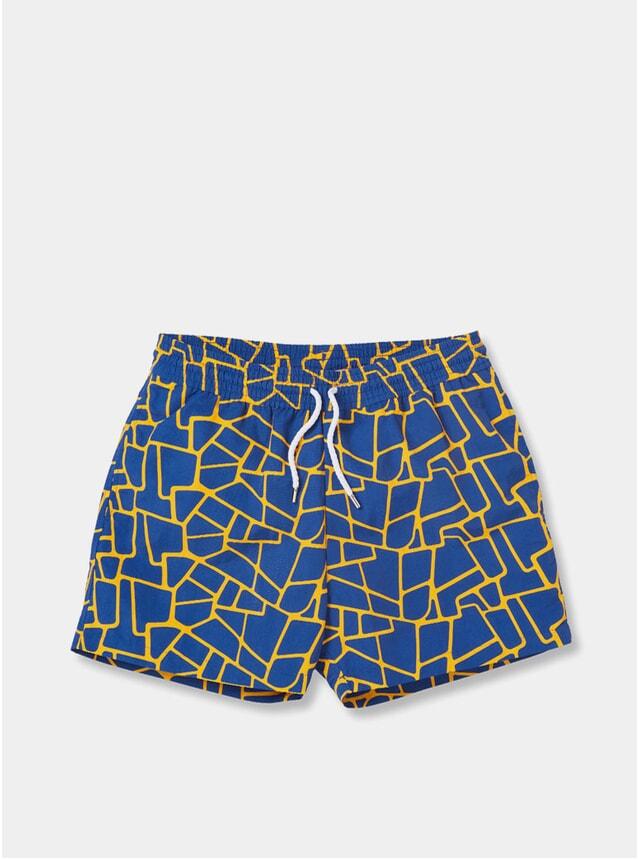 Navy / Burnt Orange Caminho Sport Swim Shorts