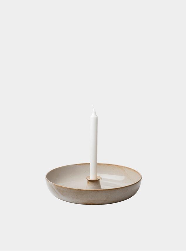 Brass / Pale Sakura Candleholder
