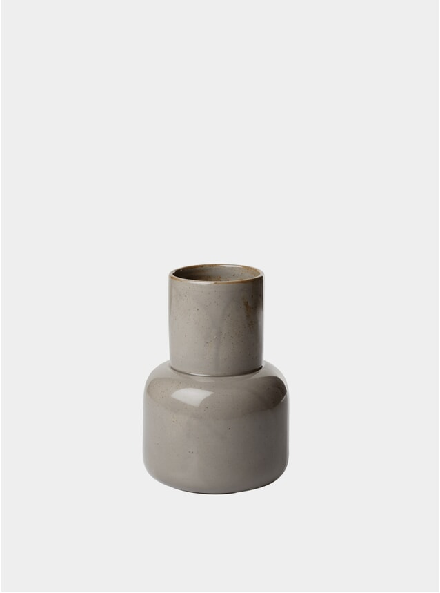 Moss Grey Earthenware Vase