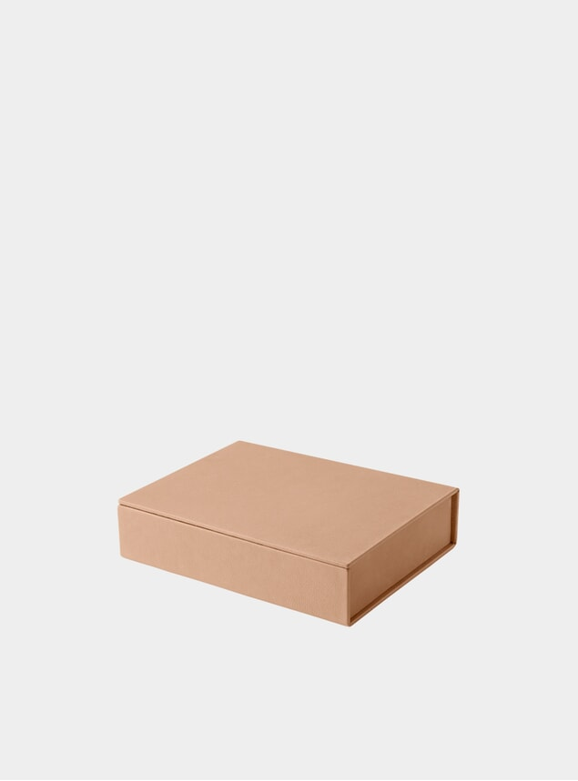 Small Natural Pure Leather Box