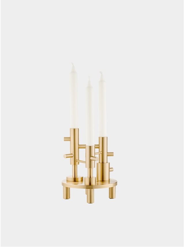 Solid Brass Large Candleholder