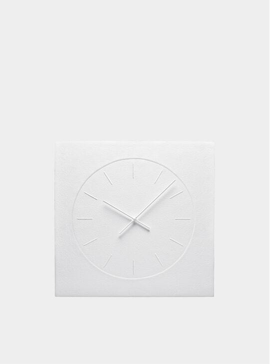 White Cotton Paper Wall Clock