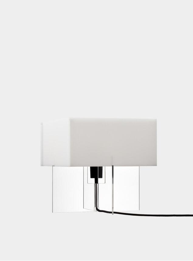 White Cross-Plex Desk Lamp