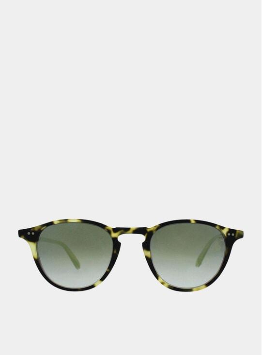 Matte Tokyo Tortoise Layered Gold Mirror Hampton Sunglasses