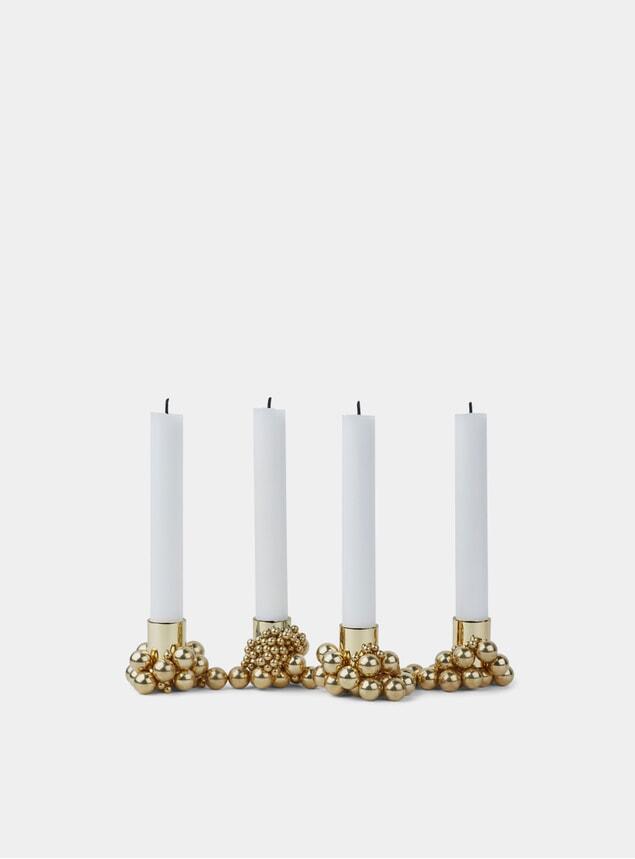 Brass Molekyl Candleholder Set of 4