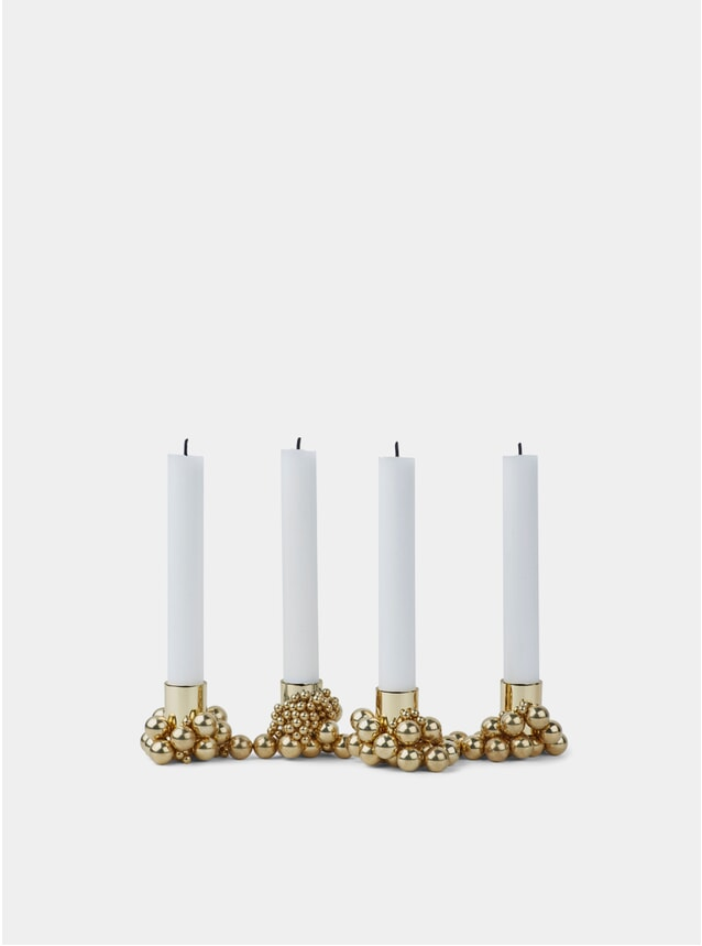 Brass Molekyl Candleholder Set of 4
