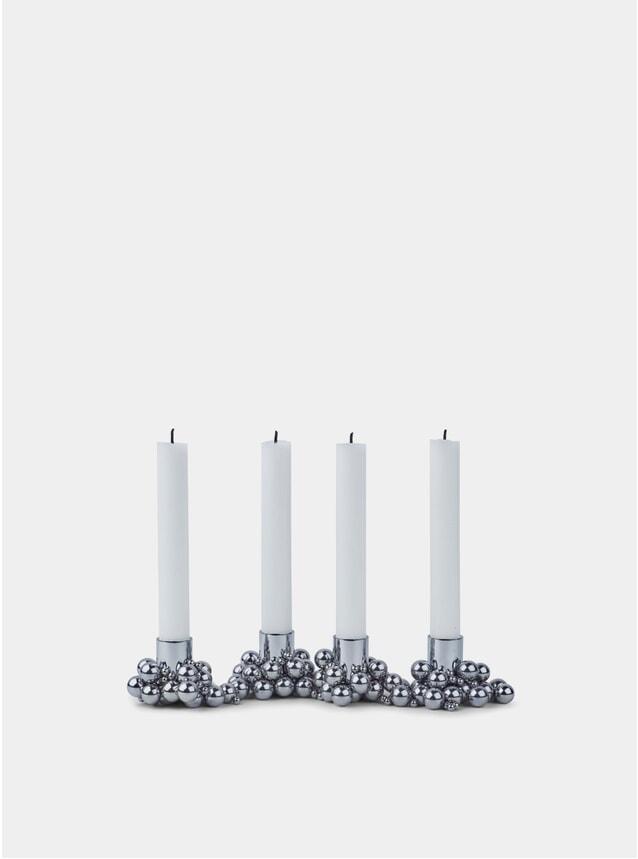 Chrome Molekyl 4 Candleholder Set of 4