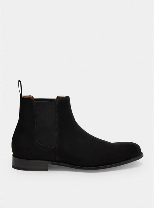 Black Suede Declan Chelsea Boots