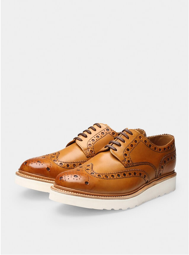 Tan Archie Wedge Brogues