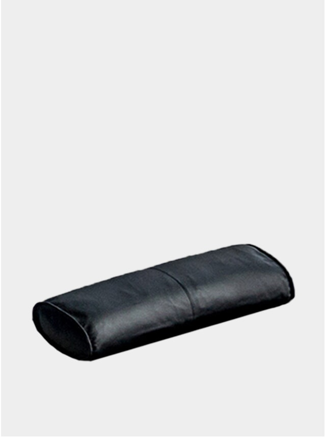 Black Aniline Leather Daybed Pillow