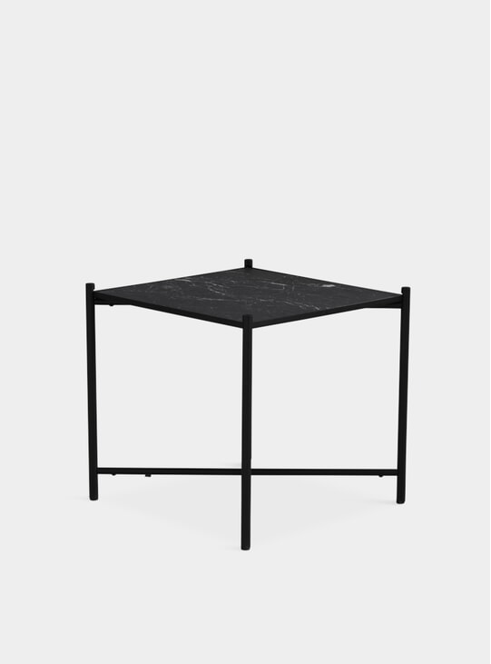 Black / Black Marble Side Table
