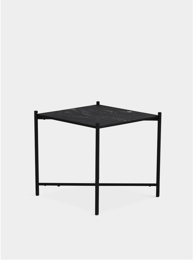 Black / Black Marble Side Table