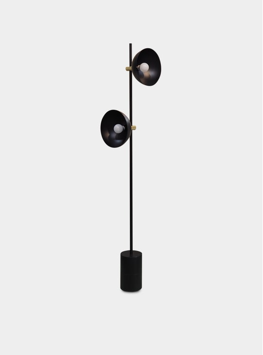 Black / Brass Studio Floor Lamp