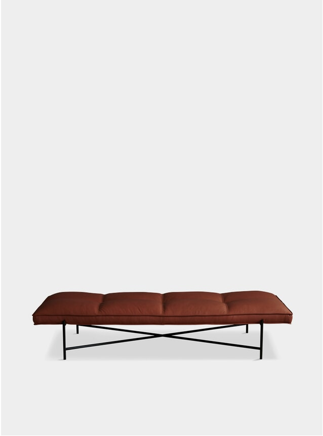 Black / Brown Aniline Leather Daybed