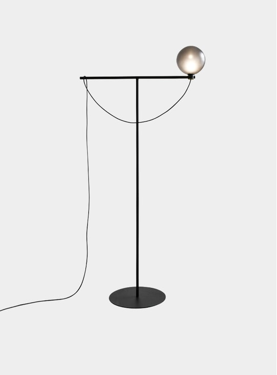 Black Globe Floor Lamp