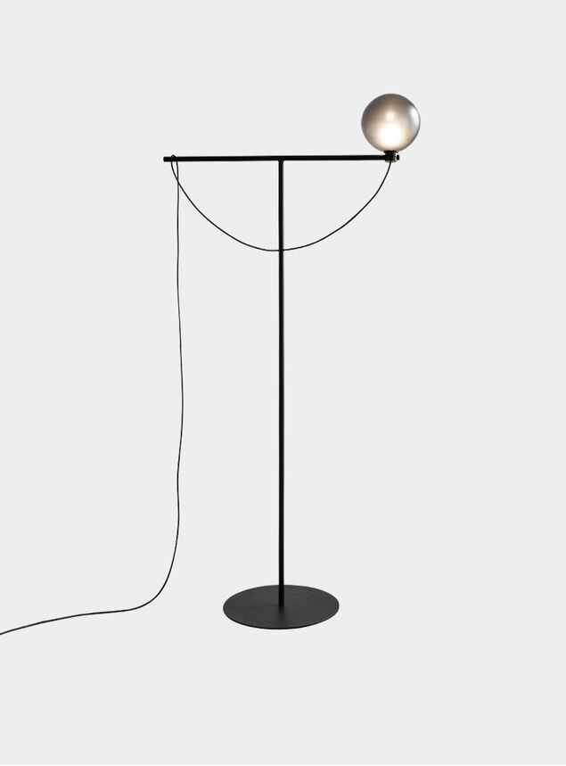 Black Globe Floor Lamp