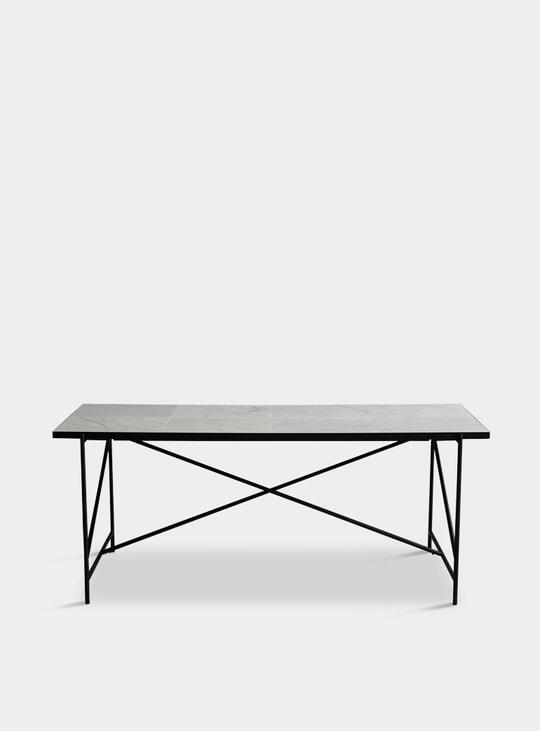 Black / White 185 Dining Table