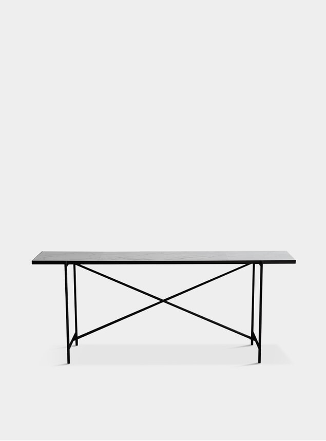 Black / White Marble Console