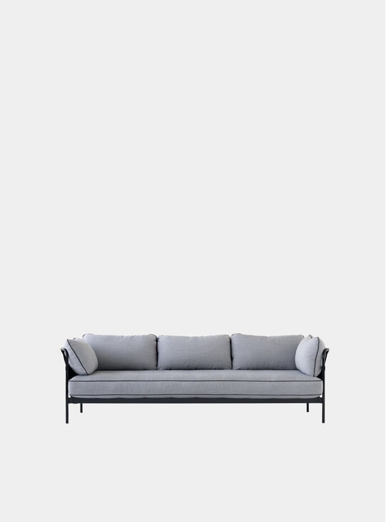 Charcoal Three Seater Can Sofa