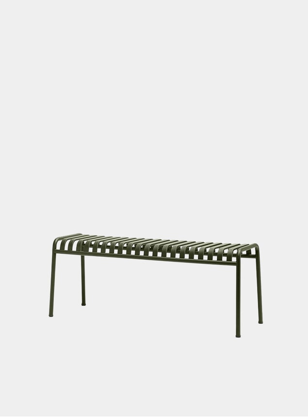 Olive Palissade Outdoor Bench