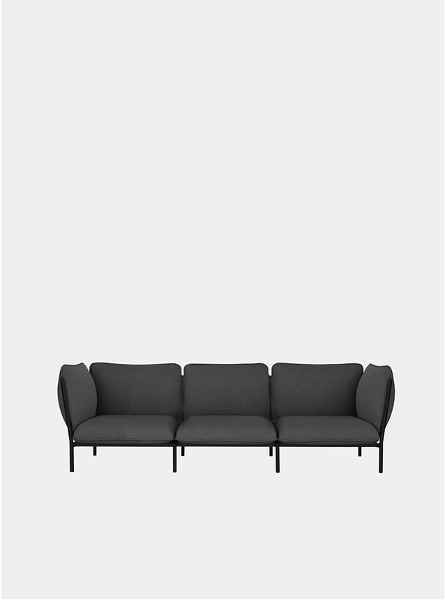 Graphite Kumo Modular 3-Seater Sofa
