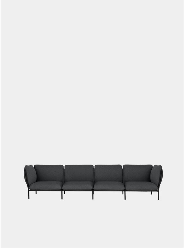 Graphite Kumo Modular 4-Seater Sofa