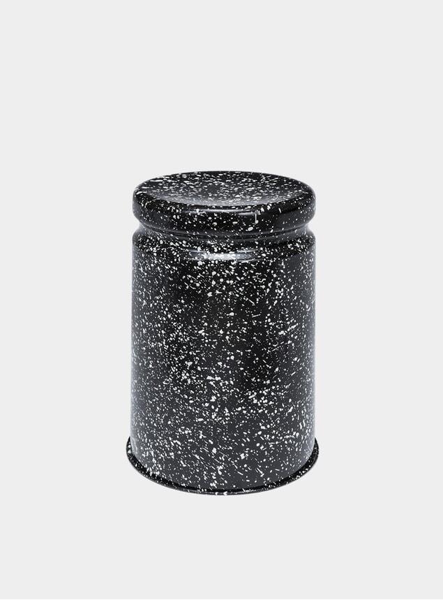 PRE-ORDER Black / White Splatter Last Stool