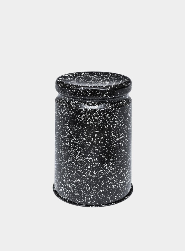 PRE-ORDER Black / White Splatter Last Stool