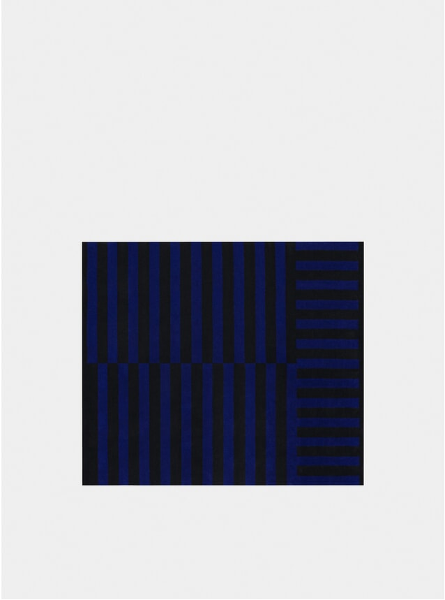 Cobalt Large Stripe Rug