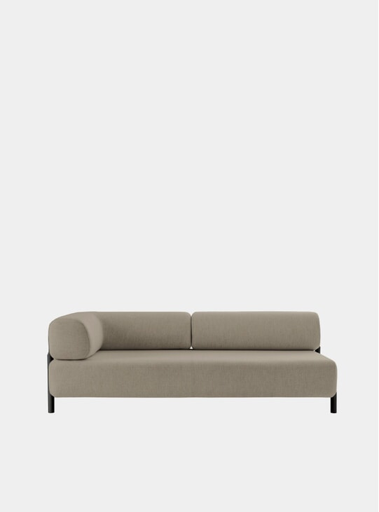 Beige Palo Left 2-Seater Chaise Sofa
