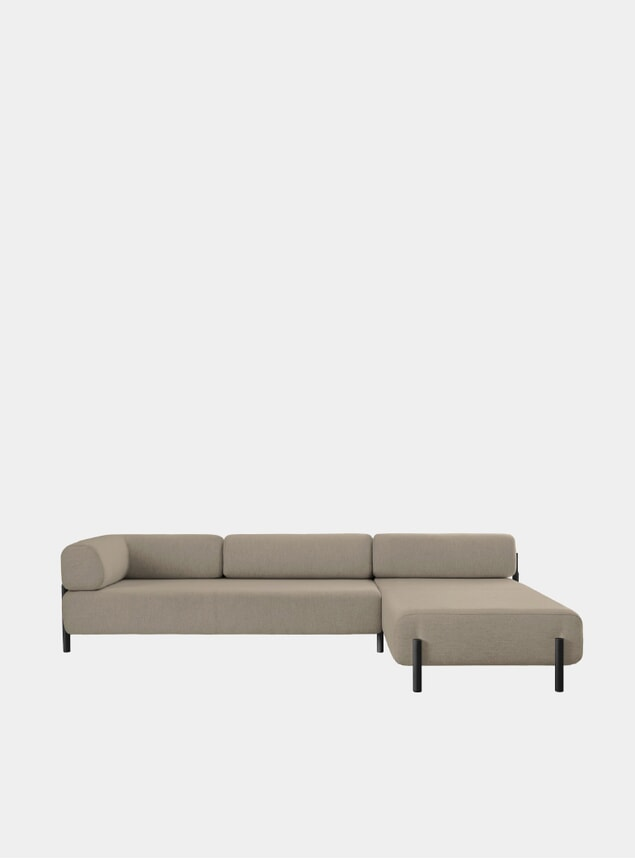 Beige Palo Right Corner Sofa