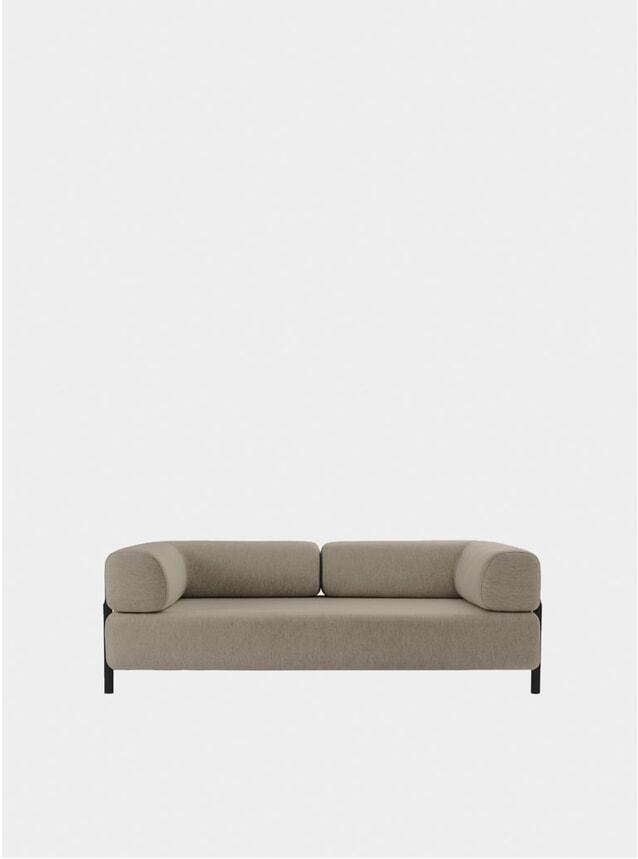 Beige Palo Two Seater Sofa + Armrest
