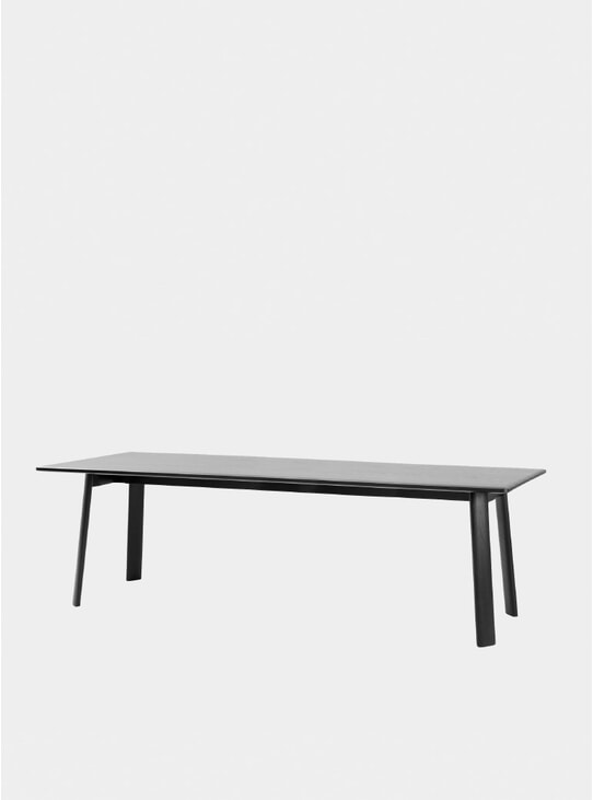 Black 250cm Alle Dining Table