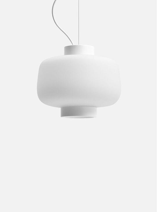 Matte Ivory Dusk Large Lamp