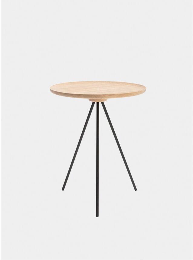 Oak / Black Key Side Table
