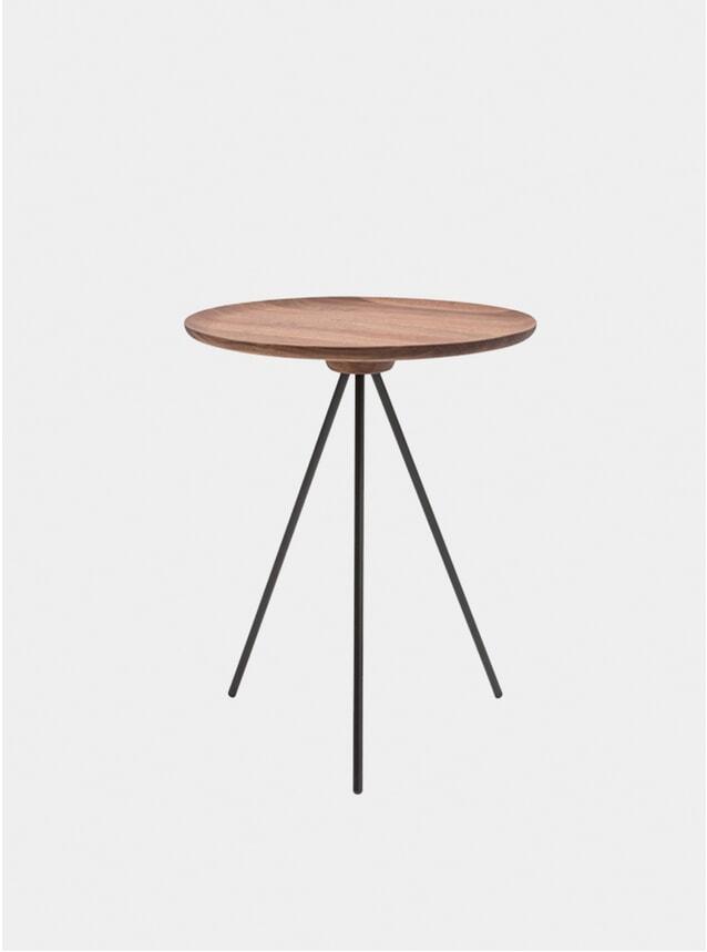 Walnut / Black Key Side Table