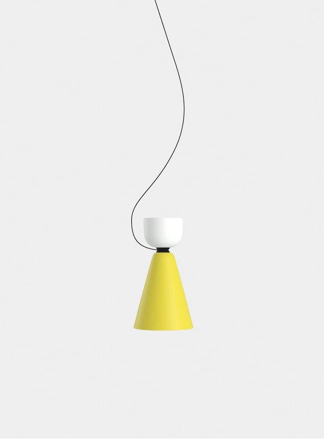 White / Yellow Alphabeta Pendant