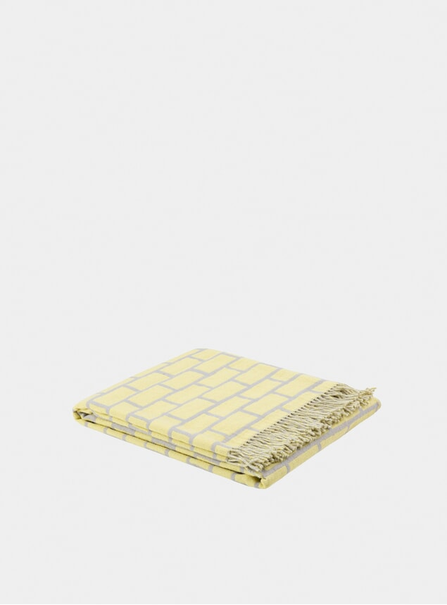 Yellow / Grey Brick Throw