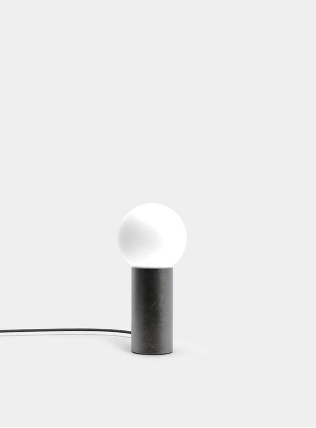 Blackened Steel Orb M Table Lamp