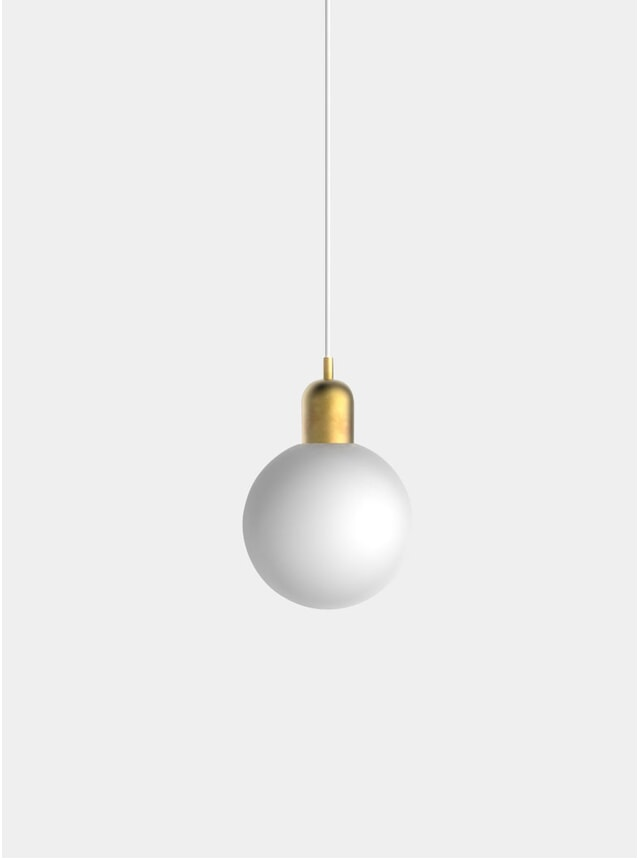 Brushed Brass Large Orb Pendant