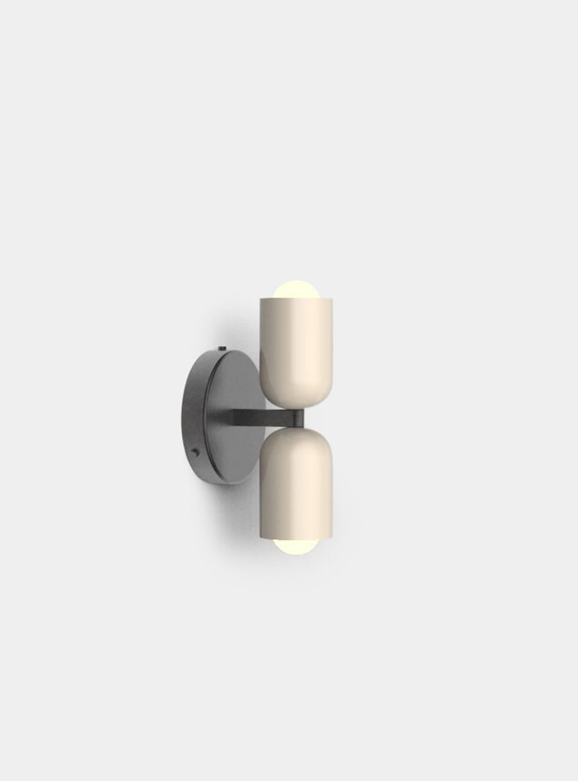 Taupe Up / Down Sconce