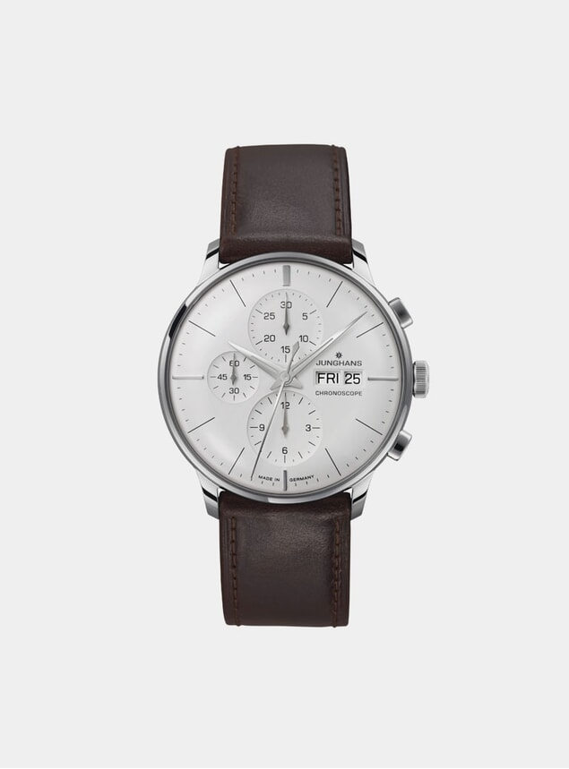 Brown / Stainless Steel Meister Driver Chronoscope 027/4120.01 Watch