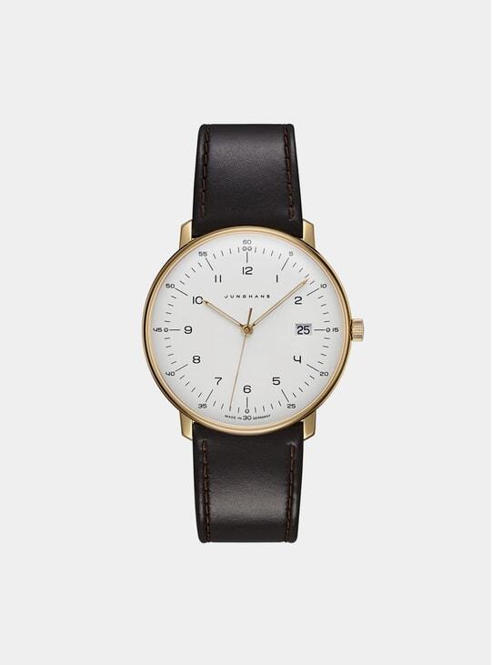 Brown / Gold Max Bill Quartz 4000897392284.00 Watch