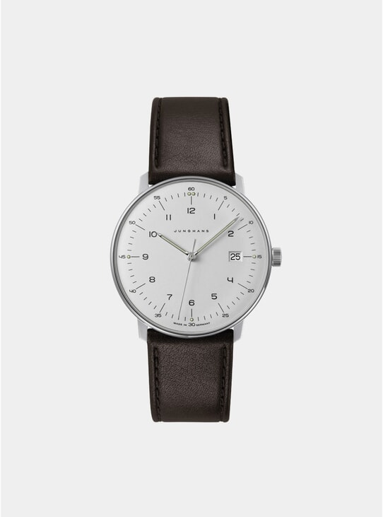 Brown / White Max Bill Quartz 041/4461.00 Watch