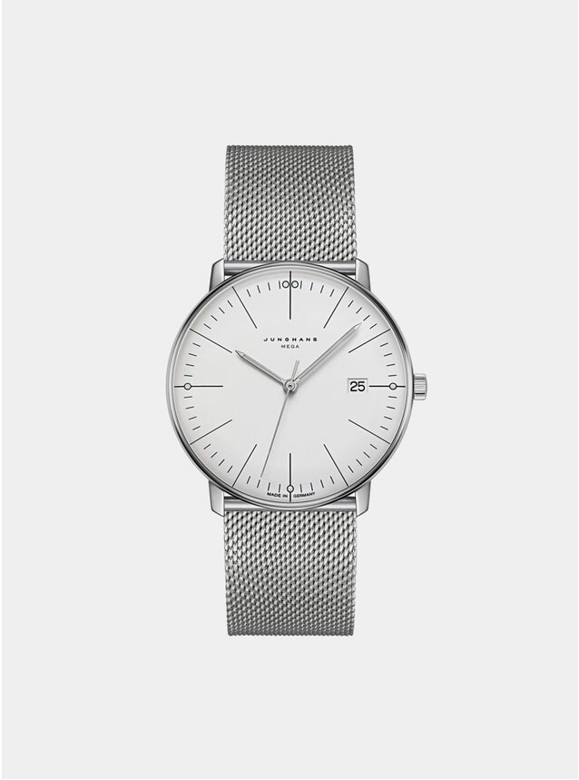 White / Stainless Steel Max Bill Mega 058/4821.44 Watch