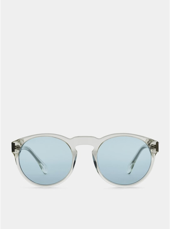 Clear / Blue Blow Sunglasses
