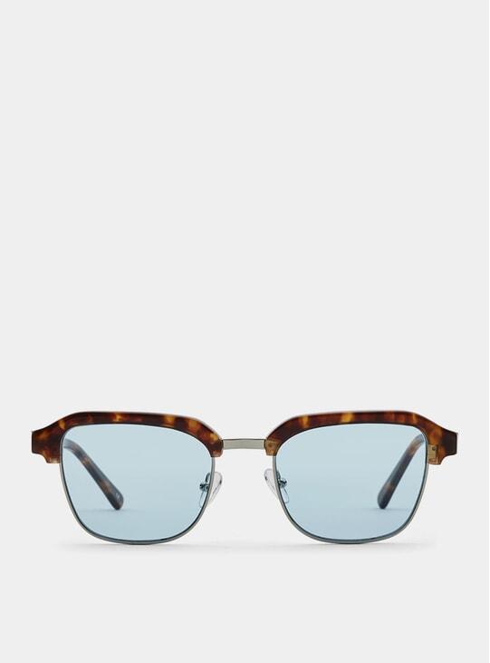 Lava Metal / Blue Continental Sunglasses