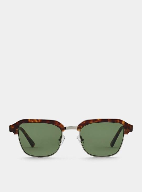 Lava Metal / Green Continental Sunglasses