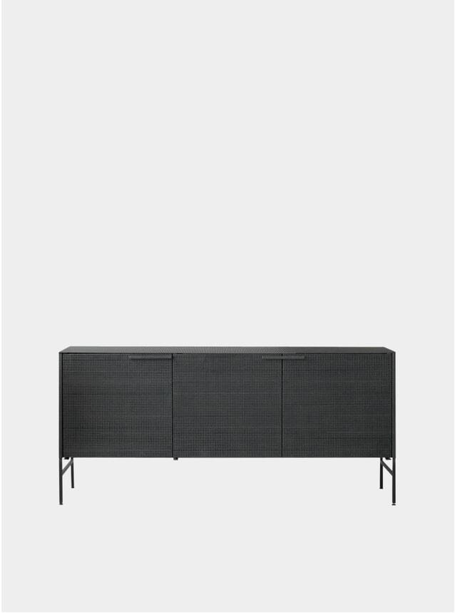 Black Grid Sideboard
